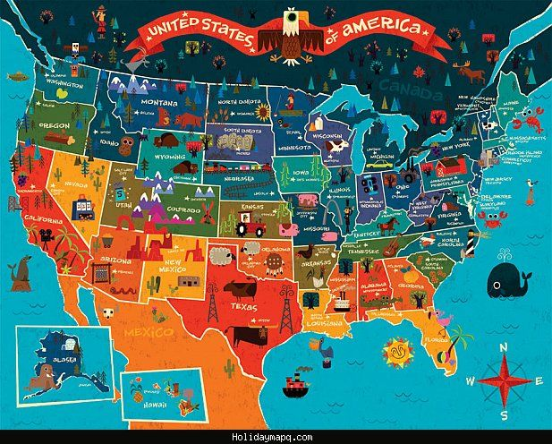 cool Map of United States Tourist | Holidaymapq | United states map ...
