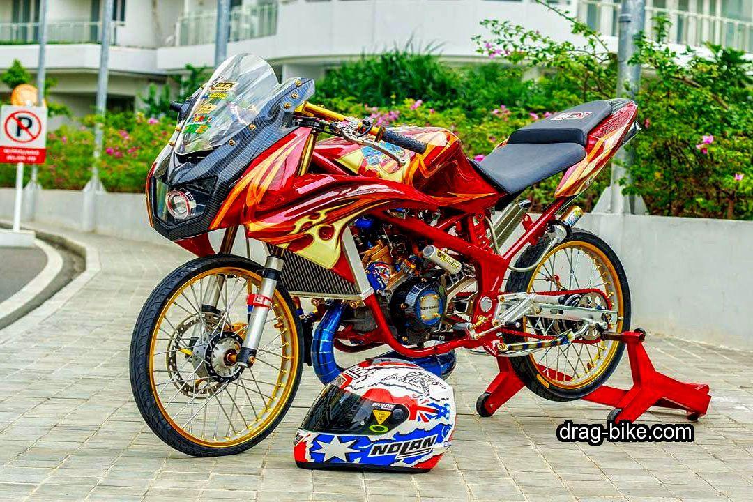 Modifikasi Motor Kawasaki Ninja Dan Cewek Warna Pink Merah Putih 2