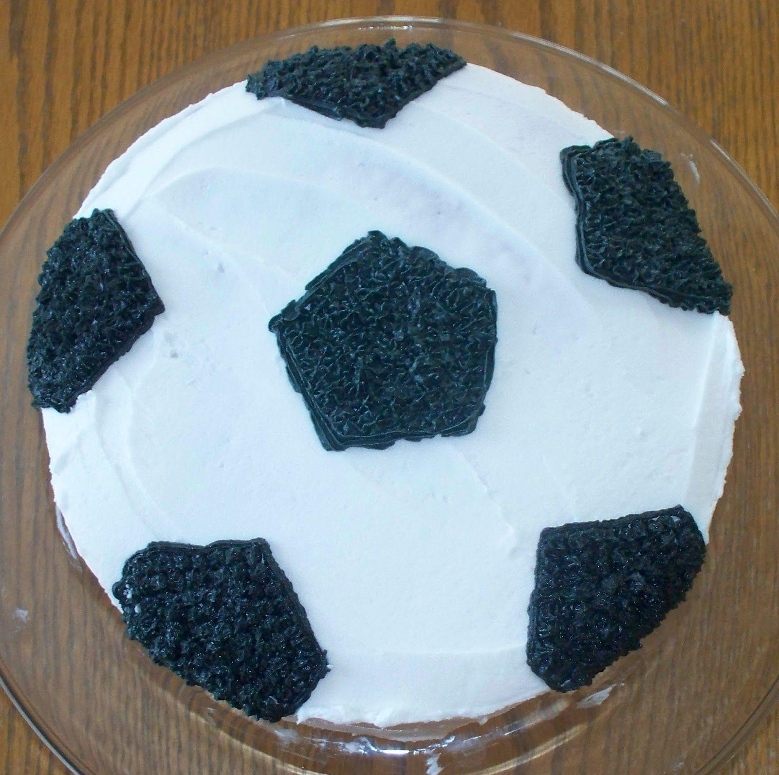 Soccer Ball cake Soccer Party Pinterest Soccer ball cake
