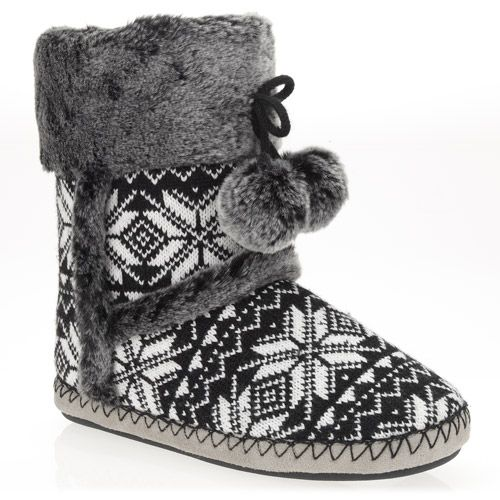 Women's Sophia Bootie Slippers from Walmart- so comfy! They're ...