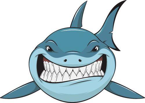 Cartoon Funny Shark Vector Material 03 Shark Illustration Cartoon Clip Art Sharks Funny