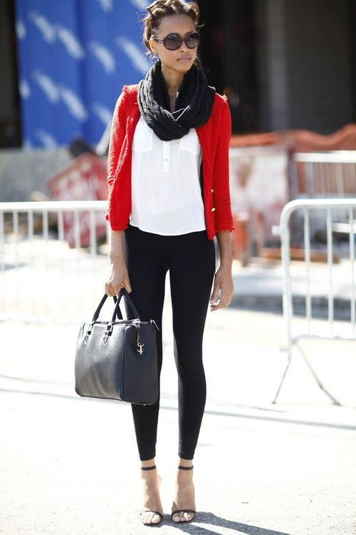029ead41635928 22 New York Street Style Fashion RED Cardigan match white shirt   skinny  jeans GOOD ~~~~