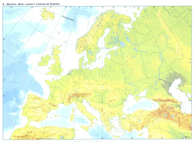 Mapa Mudo Relieve Europa.Resultado De Imagen Para Mapa De Europa Fisico Map World