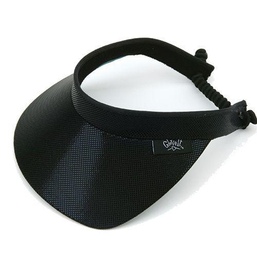 Glove It Ladies Solid Golf Visors (w Twist Cord) - Black Clear Dot at   lorisgolfshoppe 06fcebdad12