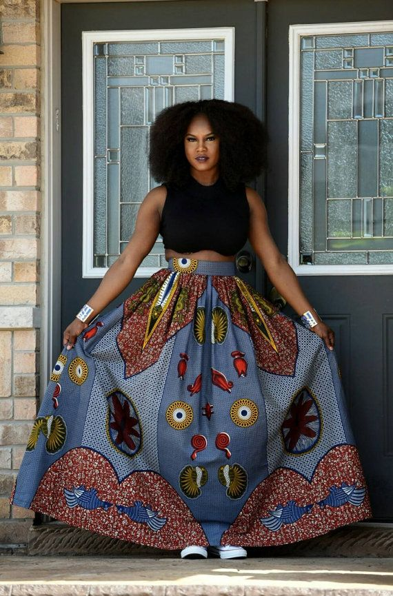 0b72c6432c NEW Luna African Wax Print Maxi skirt.patchwork by RAHYMA on Etsy ...