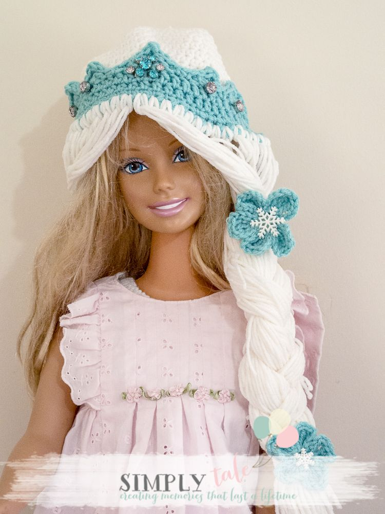 FREE Frozen Elsa crochet hat and tiara | Gancho | Pinterest ...