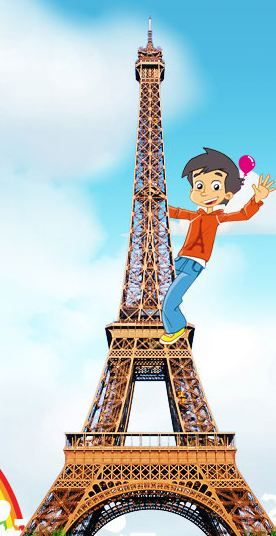 Eiffel Tower Facts for Kids | Paris Attractions | Painting in ...