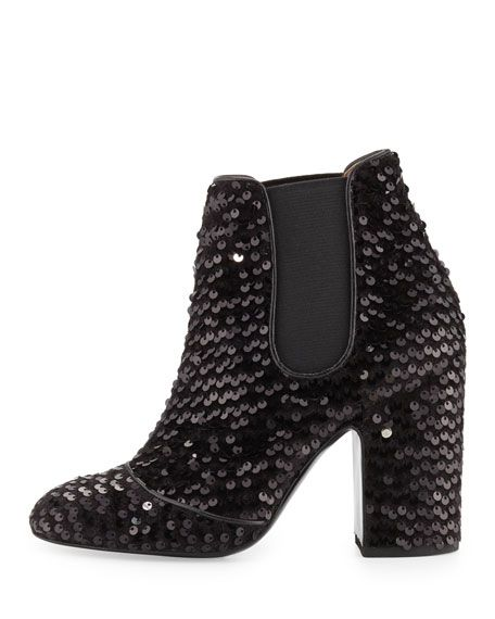 Laurence Dacade - Mila Sequined 100mm Chelsea Boot  887024a56a2e