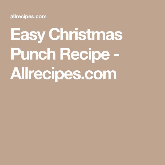 Easy Christmas Punch Recipe - Allrecipes.com