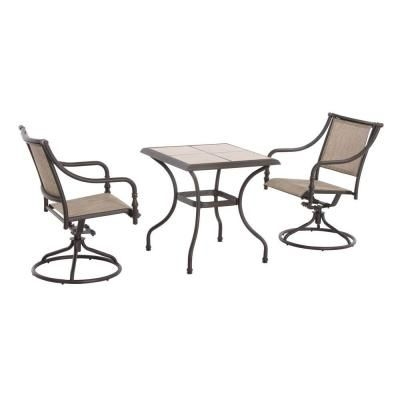 Hampton Bay Andrews 3-Piece Patio Bistro Set-T03F2U0Q0114R - The Home Depot