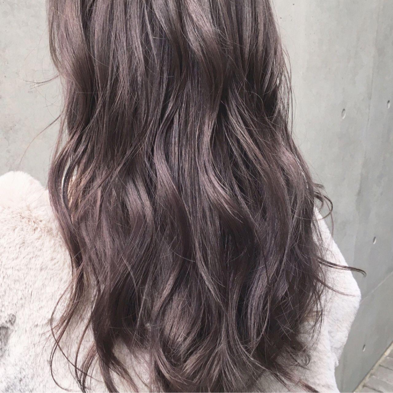 ラベンダーグレージュ ラベンダー ヘアカラー 髪 カラー 髪 カラー