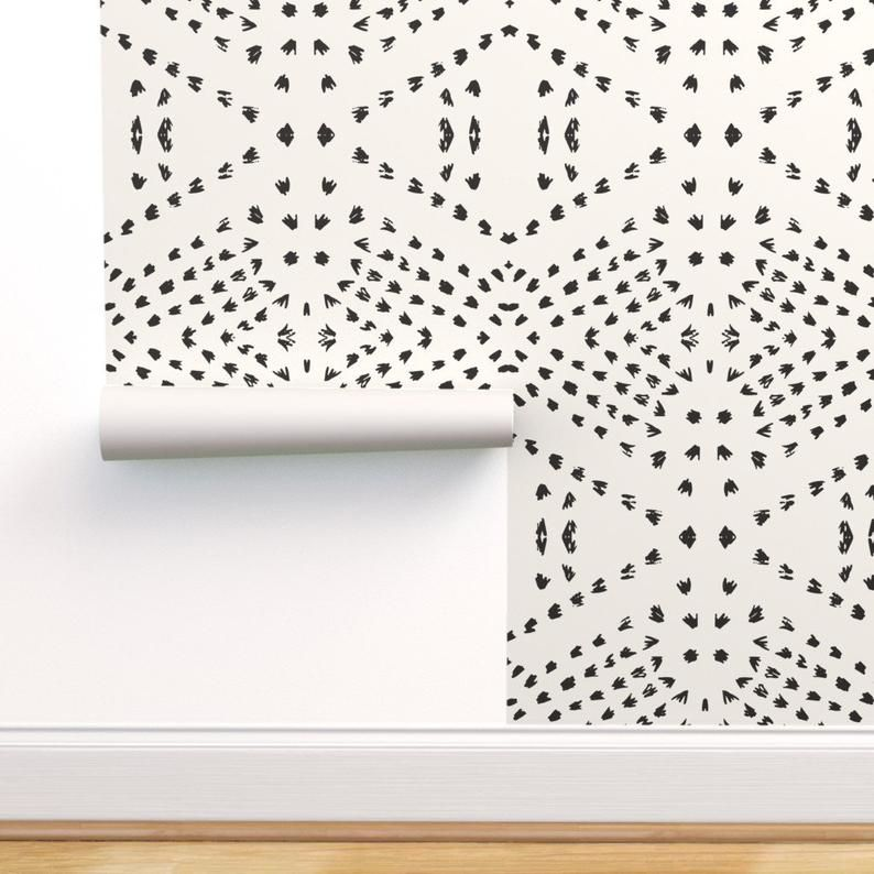 Boho Dots Wallpaper Boho Tile Large By Holli Zollinger Etsy Boho Tiles Bohemian Wallpaper Dots Wallpaper