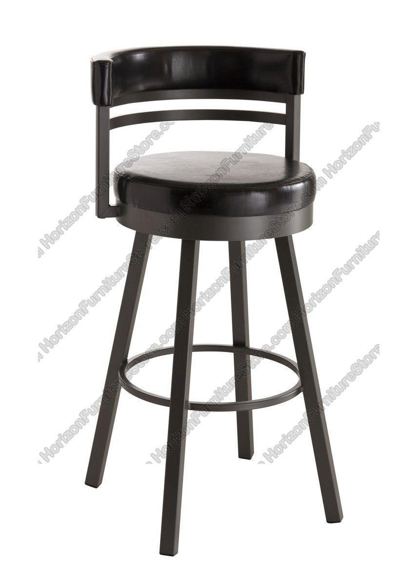 Amisco Ronny Upholstered Back Swivel Stool 41442 Swivel Counter