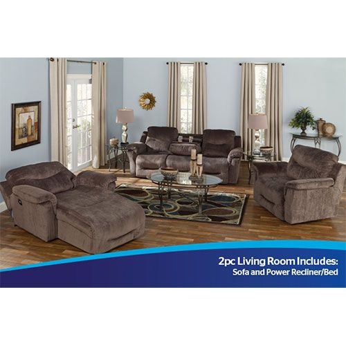 Ordinaire Franklin 2pc Hudson Sofa And Power Recliner/Bed