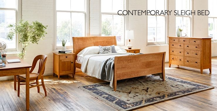 Contemporary Sleigh Bed | The Joinery | Portland, Oregon ...