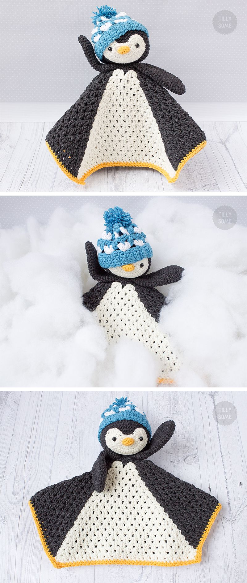 Po the Penguin Lovey Pattern | Security Blanket | Crochet Lovey ...