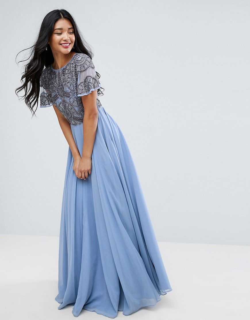 Embellished T-shirt Maxi Dress  Vestidos maxi formales, Vestidos