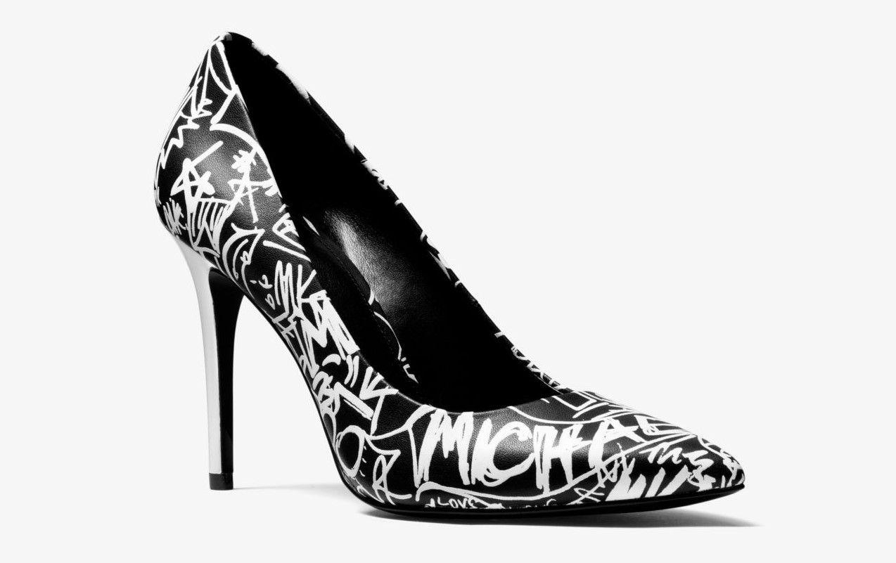 bas prix 9140b 333fa Michael Michael Kors Escarpin Claire En Cuir à Logo Graffiti ...
