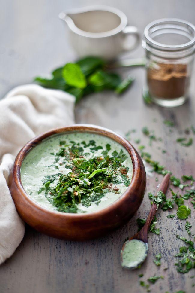 mint-cilantro yogurt chutney