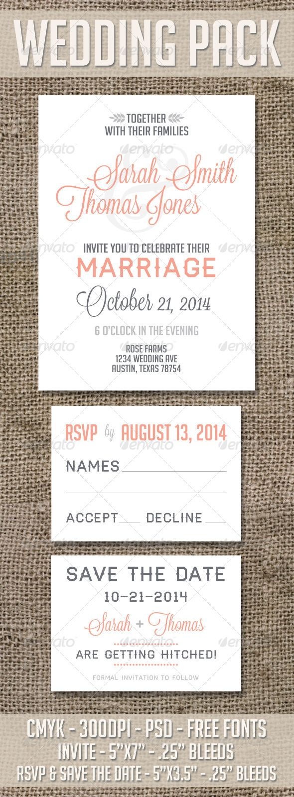Wedding and Save the Date Pack | Personal taste, Rsvp and Wedding