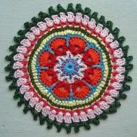 Crochet Mandala Wheel made by Cody, USA, for yarndale.co.uk