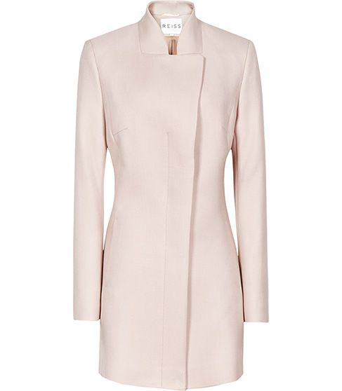 The Regale Coat in Blush is the perfect power pastel coat for spring #Reiss #SS14