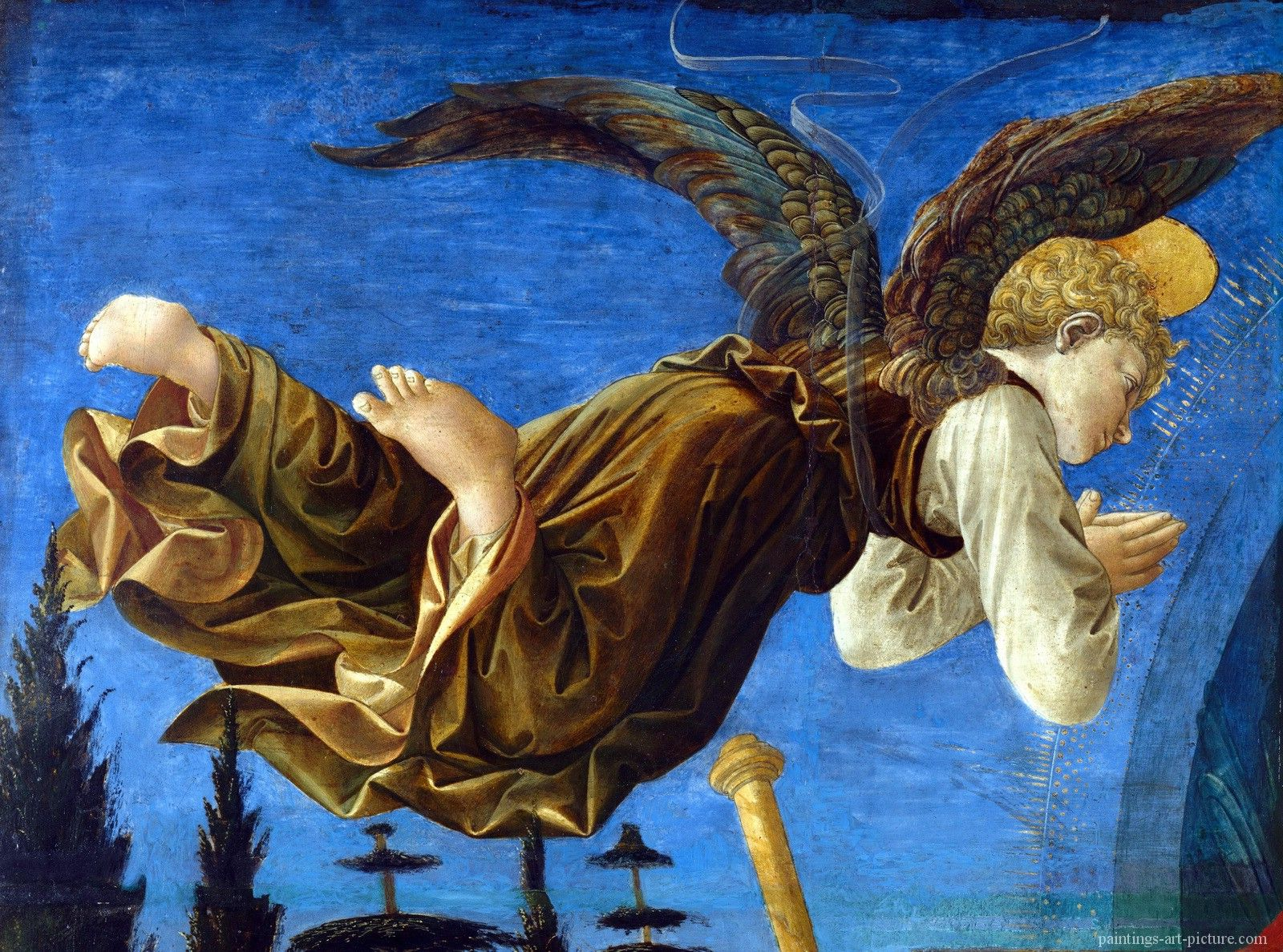 Pesellino Francesco And Fra Filippo Lippi Angel Left