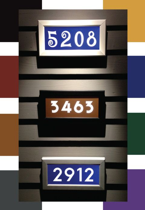Address Led Lighted Street Signs Are Available In A