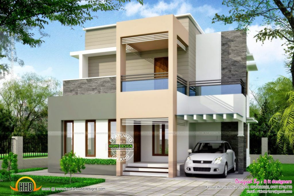 Ordinary Home Design Types Part - 8: Types House Designs Glamorous All Box Type Kerala Home Design And Floor  Plans