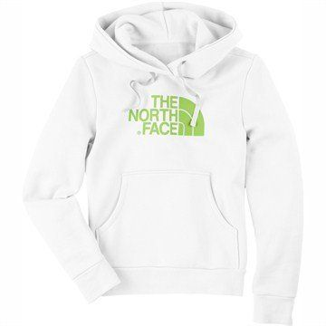The North Face Women's Half Dome Hoodie Jackets White Hamel Green X Small AAZX