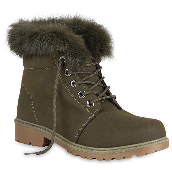 Damen Stiefeletten Worker Boots Blumen Print Outdoor Schuhe 819536 Mode