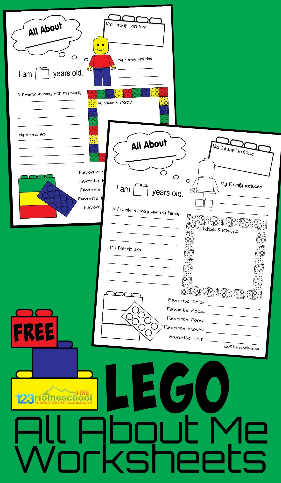 Lego All About Me Printable   All about me worksheet [ 2000 x 1164 Pixel ]