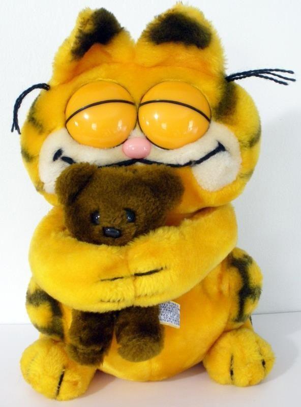 Large 1983 Dakin Garfield Holding Pooky Plush Doll 12 Dakin ガーフィールド