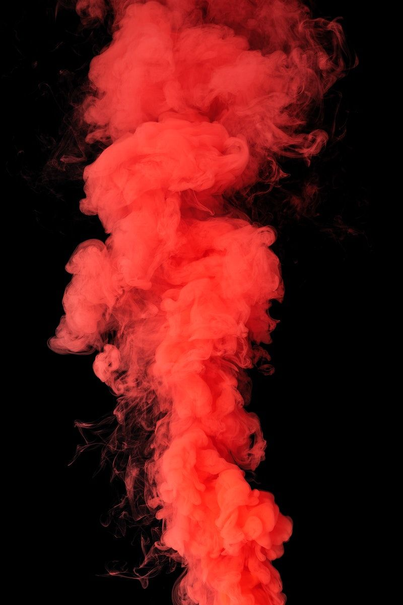 Coral Red Smoke Effect On A Black Background Free Image By Rawpixel Com Roungroat Red Smoke Colored Smoke Smoke Painting