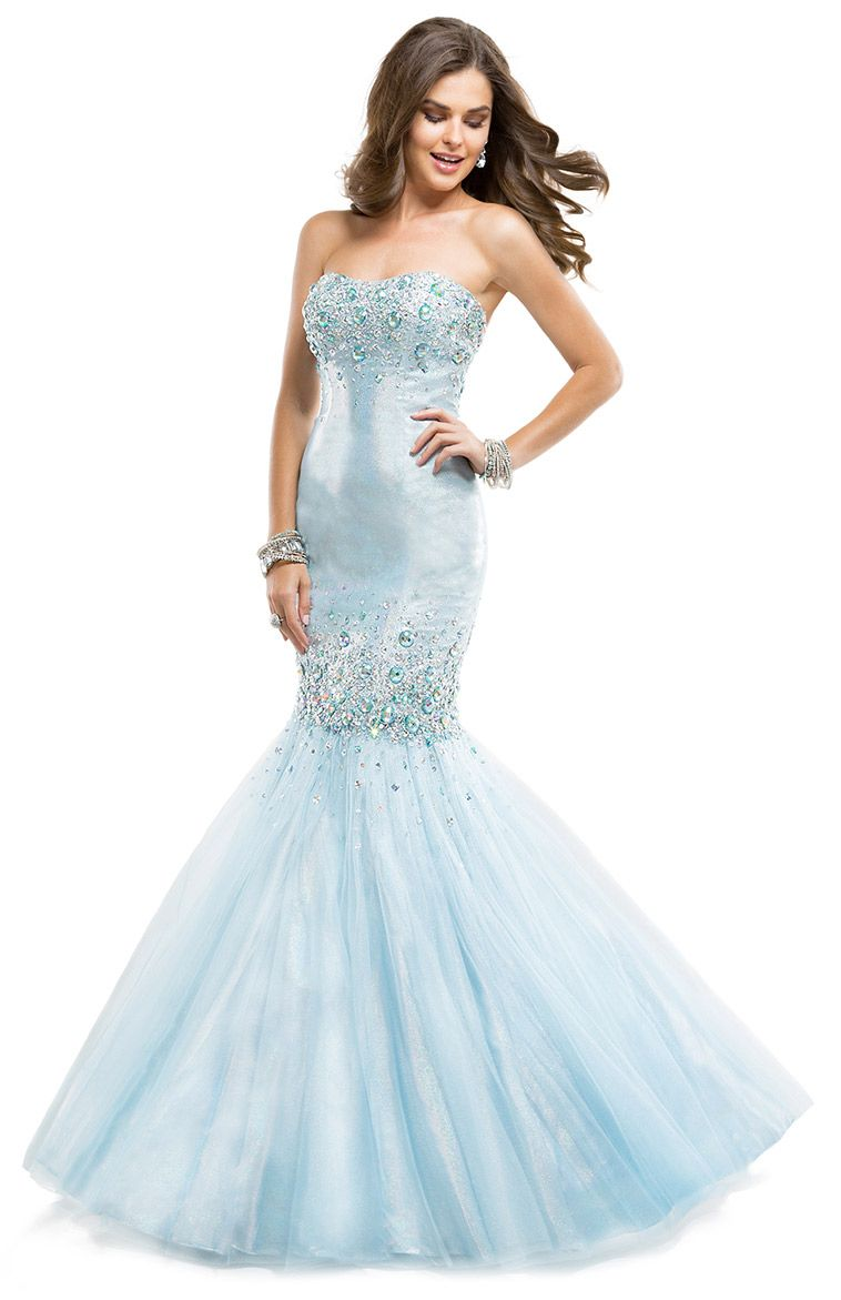 Flirt prom dress style p mermaid silhouette dress in