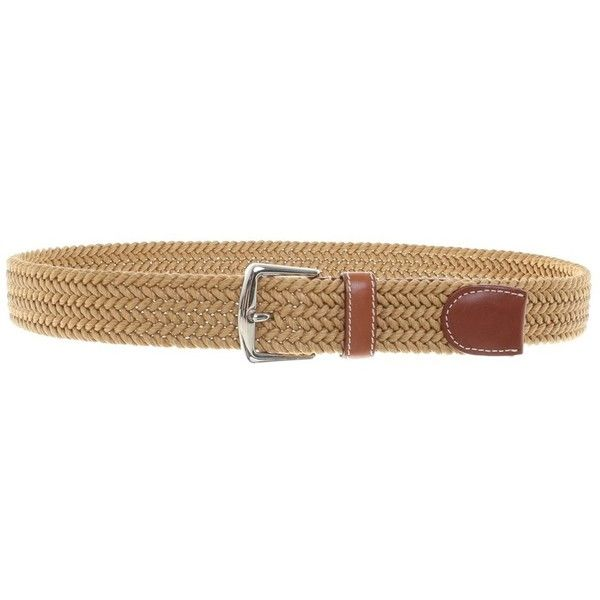 Pre-owned Belt with braiding (€250) ❤ liked on Polyvore featuring accessories, belts, brown, brown belt, woven belt, brown braided belt, braided belts and brown woven belt