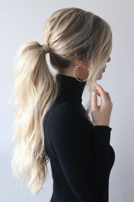 15 Easy Ponytail Hairstyles And Haircuts You Must Try #ponytailhairstyles