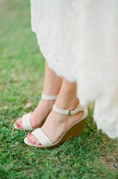 Stephanie John Southern Weddings Outdoor Wedding Shoes Bridal Shoes Wedges Summer Wedding Shoes