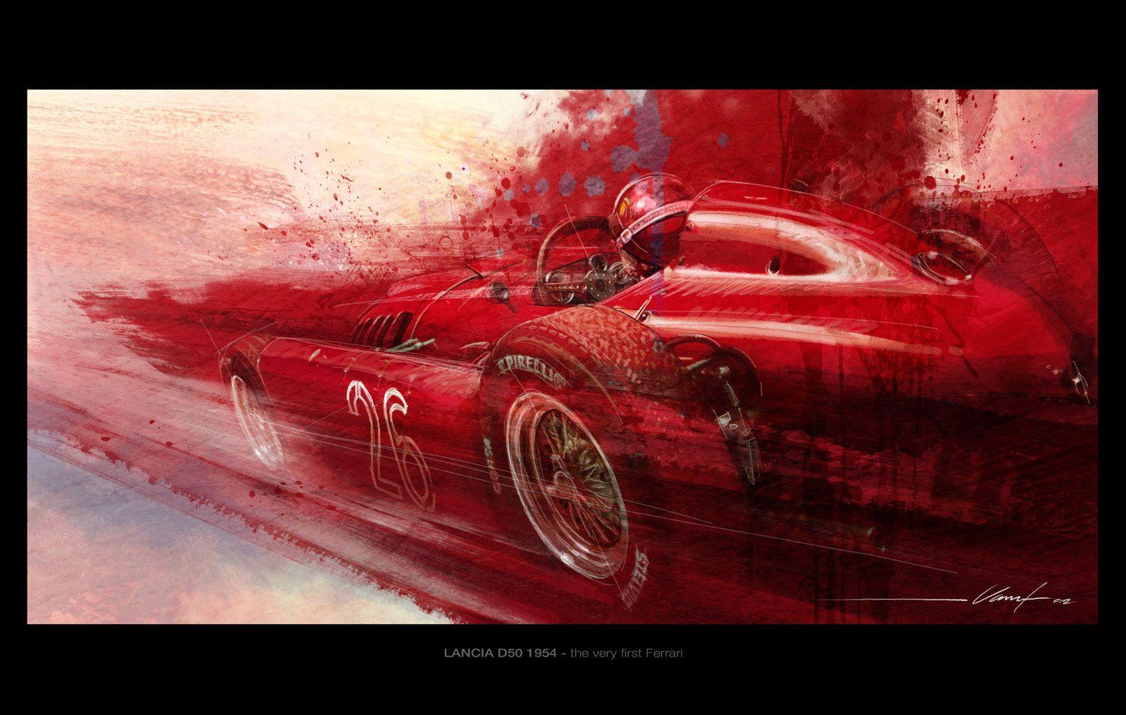 1954 lancia d50 sketch by jeanluc vanuf car body design garage 1954 lancia d50 sketch by jeanluc vanuf car body design vanachro Gallery