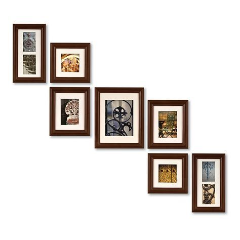 Create A Gallery 7 Piece Frame Set With Images Gallery Wall Picture Frames Wall Frame Set