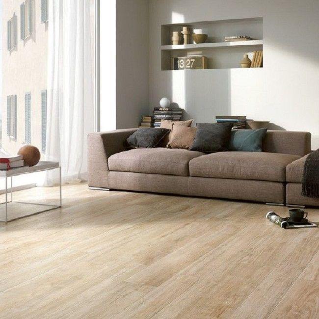 White Oak Wood Mixed With Porcelain Floor Tile | Wood Effect Floor Tiles U2013 Living  Room