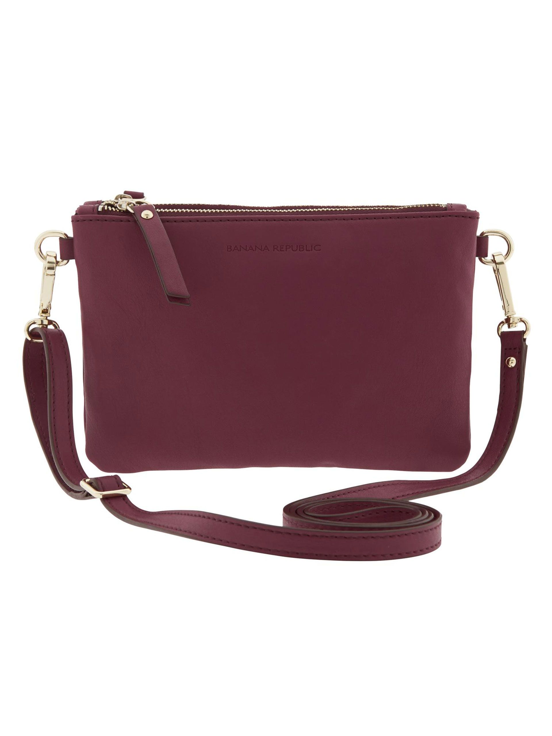 Carla cross-body, $69.50; Banana Republic.   - Redbook.com