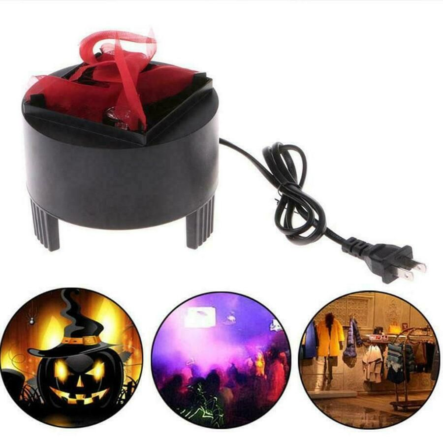 Halloween LED Fake Flame Lamp Torch Light Fire Pot Bowl