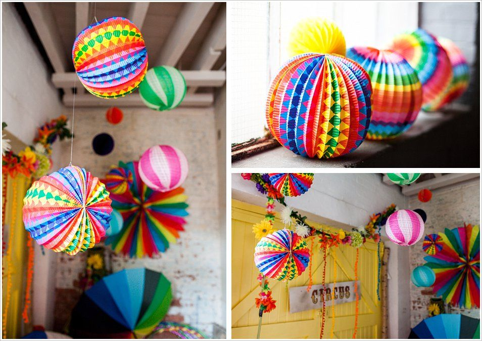 Colourful paper baubles and decorations | Frances Carlisle Photography