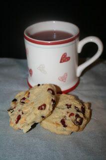Brusnicové cookies s kúskami bielej čokolády
