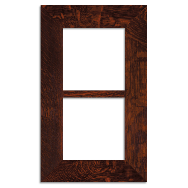 6x6 Craftsman Oak Double 2-inch Oak Park Frame