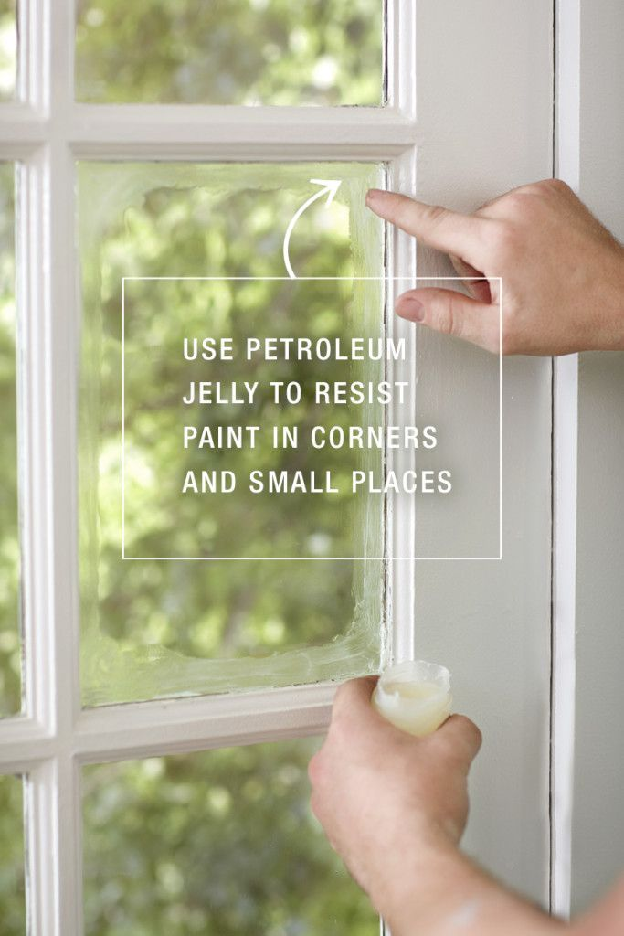 How To Paint Like A Pro Use Petroleum Jelly Resist In Corners And Small Places