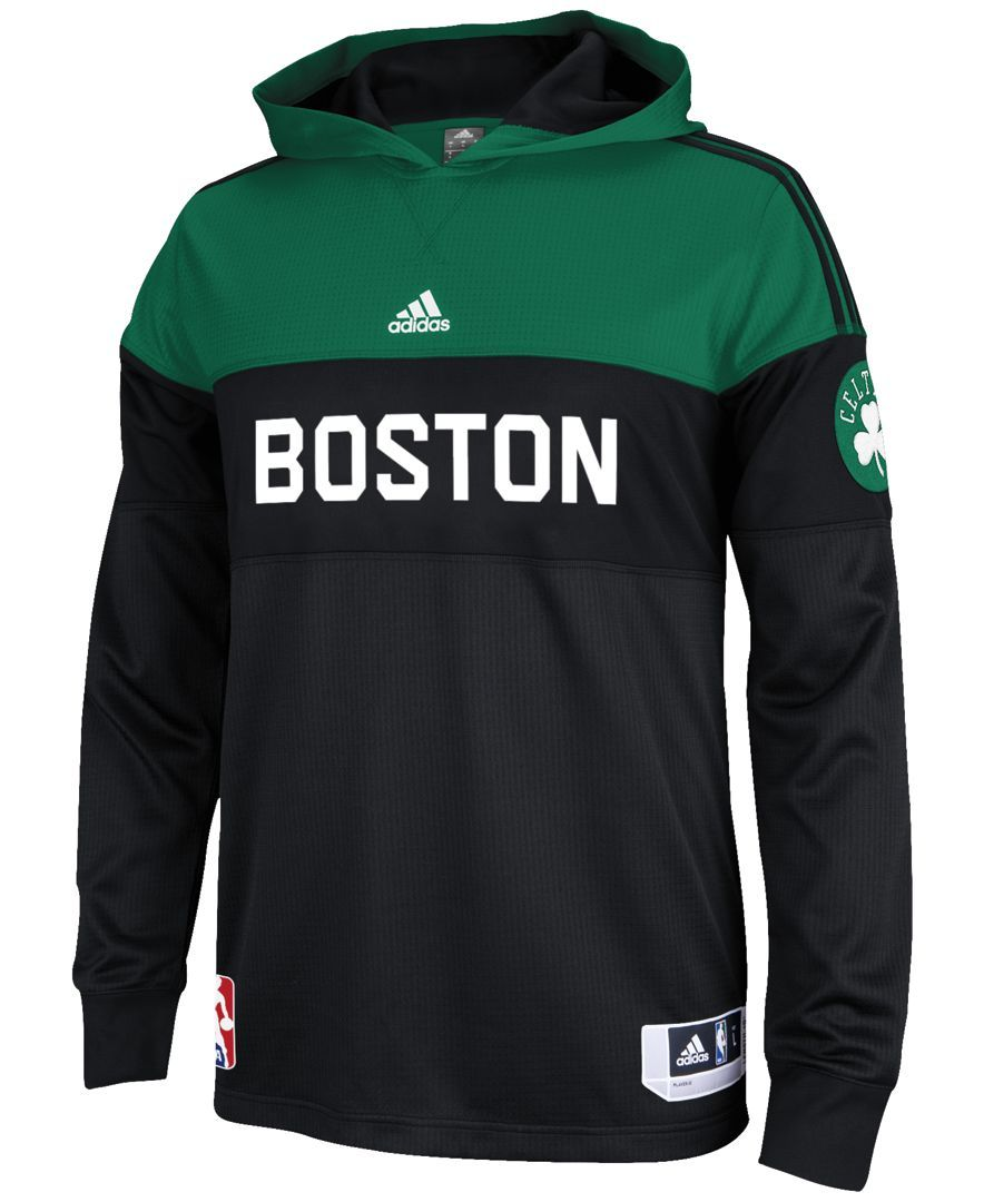 new concept 0c84f 91478 adidas Men s Long-Sleeve Boston Celtics On Court Shooter Shirt