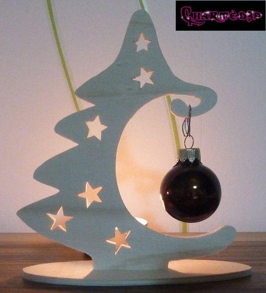 Weihnachtsdeko   Tannenbaum Weihnachtsdeko Aus Holz F. Baumkugeln   Ein  Designerstück Von Charmed3p Bei DaWanda