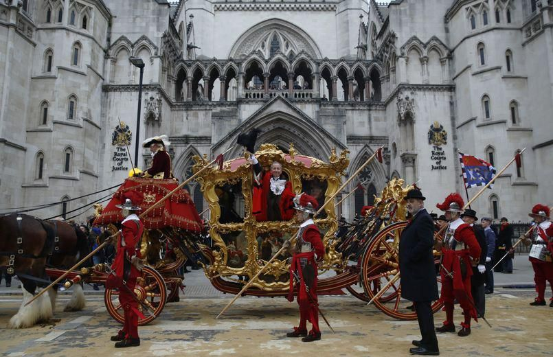 Newly appointed Lord Mayor of London Alan Yarrow waves ...